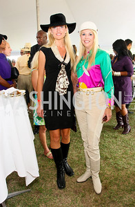 Anja Broer, Carolyn Delaney. The Land Rover America's Polo Cup Fall Classic. September 19, 2009. photos by Tony Powell