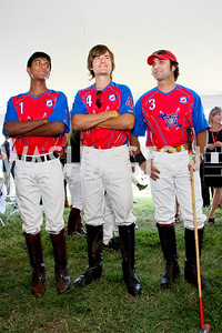 Paras Sharma, Marcos Bignoli, Sunny Khan. The Land Rover America's Polo Cup Fall Classic. September 19, 2009. photos by Tony Powell