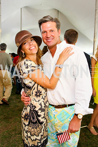 Julie Philp, Jim Rayborn. The Land Rover America's Polo Cup Fall Classic. September 19, 2009. photos by Tony Powell