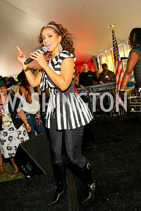 R&B singer-songwriter, Mýa. The Land Rover America's Polo Cup Fall Classic. September 19, 2009. photos by Tony Powell