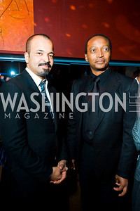Jeffrey Wright (left). Artists Making An Impact Party. FUR Nightclub. Photo by Tony Powell