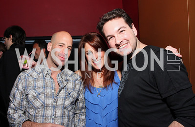 Joey Lipton, Sarah Peck, Marc Adelman. Artists Making An Impact Party. FUR Nightclub. Photo by Tony Powell