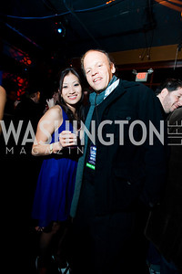 Jennie Kim, Mark Ein. Artists Making An Impact Party. FUR Nightclub. Photo by Tony Powell