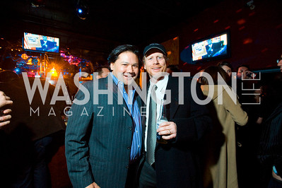 Ray Regan, Ron Howard. Artists Making An Impact Party. FUR Nightclub. Photo by Tony Powell