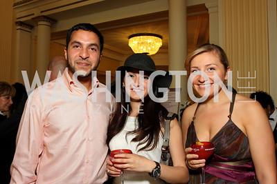Arjun Bhalla, Lida Bteddini, Sara El Hashem (Photo by Tony Powell)