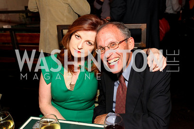 NY Times journalists Maureen Dowd and Adam Nagourney. Book party for Born Round by Frank Bruni. Comet Ping Pong. September 29, 2009. photos by Tony Powell