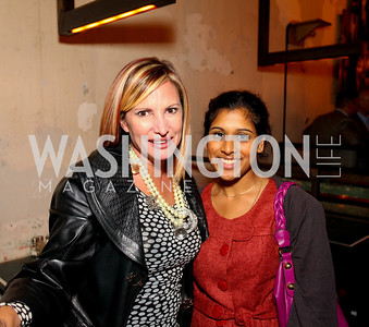 Tina Alster, Sona Shah. Book party for Born Round by Frank Bruni. Comet Ping Pong. September 29, 2009. photos by Tony Powell