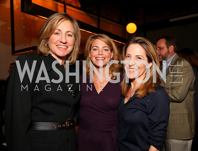 Dee Dee Myers, Sarah Feinberg, CNN's Jessica Yellin. Book party for Born Round by Frank Bruni. Comet Ping Pong. September 29, 2009. photos by Tony Powell