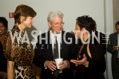 Carey Lowell, Richard Gere, Sheila Johnson, (Photo by Betsy Spruill Clarke)