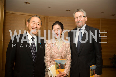 Ichiro Fujisaki, Yoriko Fujisaki, Francisco Villagrain de Leon (Photo by Betsy Spruill Clarke)