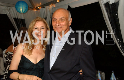 Jane Cafritz, Shakespeare Theatre Artistic Director Michael Kahn  Jane and Calvin Cafritz open their northwest Washington, DC home for their annual catching-up-with-friends party on Friday, September 11, 2009.  The party is designed to share summertime stories and reconnect with friends less seen since June.  (James R. Brantley)