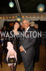 JoAnn Mason, Moroccan Ambassador Aziz Mekouar  Jane and Calvin Cafritz open their northwest Washington, DC home for their annual catching-up-with-friends party on Friday, September 11, 2009.  The party is designed to share summertime stories and reconnect with friends less seen since June.  (James R. Brantley)