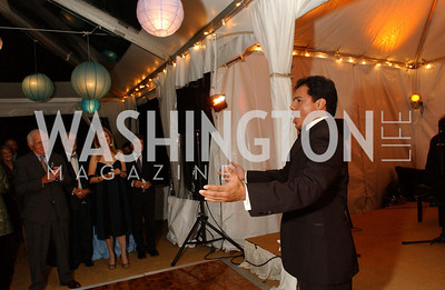 Tenor Jesus Hernandez performs  Jane and Calvin Cafritz open their northwest Washington, DC home for their annual catching-up-with-friends party on Friday, September 11, 2009.  The party is designed to share summertime stories and reconnect with friends less seen since June.  (James R. Brantley)