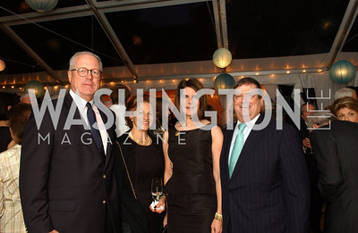 Jim Johnson, Maxine Isaacs, Jackie Duberstein, Ken Duberstein  Jane and Calvin Cafritz open their northwest Washington, DC home for their annual catching-up-with-friends party on Friday, September 11, 2009.  The party is designed to share summertime stories and reconnect with friends less seen since June.  (James R. Brantley)