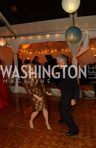 Pat Sagon and Charles Miller prove they can still twist the night away  Jane and Calvin Cafritz open their northwest Washington, DC home for their annual catching-up-with-friends party on Friday, September 11, 2009.  The party is designed to share summertime stories and reconnect with friends less seen since June.  (James R. Brantley)