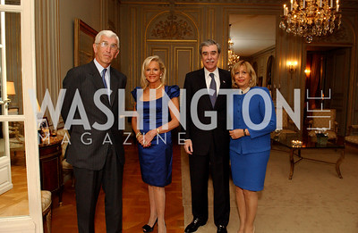 Dominique Struye de Swielande, Debbie Sigmund, Carlos Guitierrez, Edelia Gutierrez. (James R. Brantley)