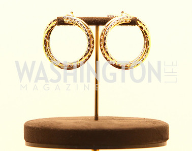 Cartier Centennial Collection earrings. Photograph by Tony Powell