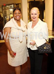 Gwendolyn Russell, Judy Esfandiary. Photograph by Tony Powell
