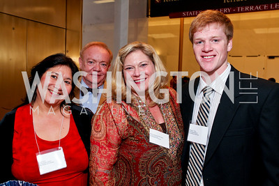 Diana Vera, Phil Smith, Melisa Armentrout-McCollam, William Stout. 2009 Coming Up Taller Awardees Reception. Kennedy Center Terrace Gallery. November 3, 2009. photos by Tony Powell