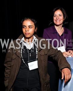 Shaima Ibrahim Hassein and Azza Kamel. 2009 Coming Up Taller Awardees Reception. Kennedy Center Terrace Gallery. November 3, 2009. photos by Tony Powell