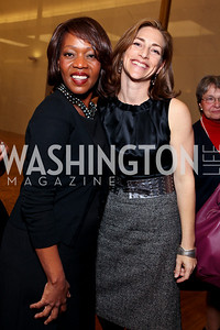 Actress Alfre Woodard and Rachel Goslins. 2009 Coming Up Taller Awardees Reception. Kennedy Center Terrace Gallery. November 3, 2009. photos by Tony Powell