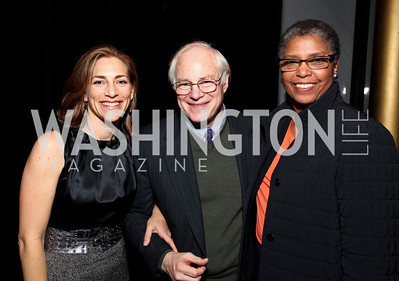 Rachel Goslins, National Endowment for the Humanities Chairman Jim Leach, and Carole Watson. 2009 Coming Up Taller Awardees Reception. Kennedy Center Terrace Gallery. November 3, 2009. photos by Tony Powell