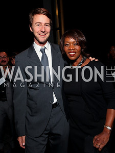 Actors Edward Norton and Alfre Woodard. 2009 Coming Up Taller Awardees Reception. Kennedy Center Terrace Gallery. November 3, 2009. photos by Tony Powell