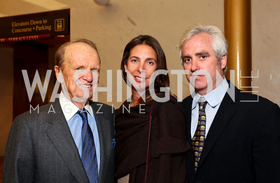 George Stevens, Vicki and Max Kennedy. 2009 Coming Up Taller Awardees Reception. Kennedy Center Terrace Gallery. November 3, 2009. photos by Tony Powell