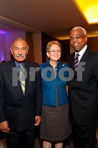 Rep. John Conyers, Nancy Zirkin, Wade Henderson. DC Vote's 11th Annual Champions of Democracy Awards. W Hotel. October 13, 2009. photos by Tony Powell