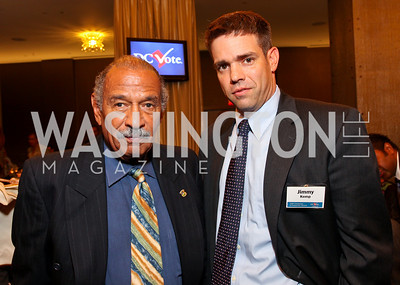 Rep. John Conyers and Jimmy Kemp. DC Vote's 11th Annual Champions of Democracy Awards. W Hotel. October 13, 2009. photos by Tony Powell