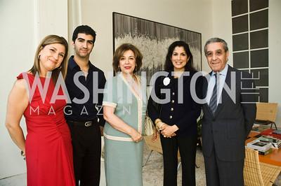 Fariba Jahanbani, Ramin Jahanbani, Nina Nasseri,  Anita Gadhia Smith, Darius Nasseri. Photograph by Betsy Spruill Clarke