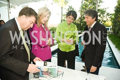 Calvin Cafritz, Jane Cafritz, Goli Ameri, Hossein Amirsadeghi. Photograph by Betsy Spruill Clarke