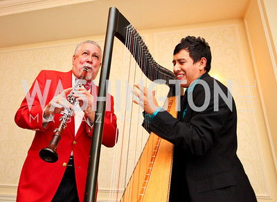 Paquito D'Rivera and Edmar Castaneda. A dinner and concert in support of the 2010 DC Jazz Festival. The Madison Hotel. October 27, 2009. photos by Tony Powell