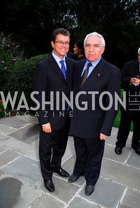 Kyle Samperton,September 15,2009,Farewell Party for Amb. Castellaneta at the Residence of the Italian Ambassador,Marco Mancini,Meto Cicala