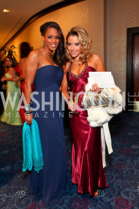 Wizards dancers Jamela Keene and Tiffany Bacon. Fight Night 20th Anniversary. Hilton Hotel. November 5, 2009. photos by Tony Powell