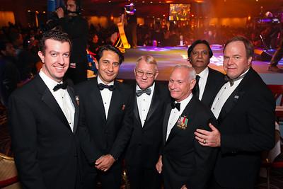 Table host Mike Sullivan, Afghanistan Amb. Said Jawad, Gen. Jay Garner, Gen. Bob Magnus, Ray Mahmood, Joe Reeder. Fight Night 20th Anniversary. Hilton Hotel. November 5, 2009. photos by Tony Powell