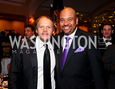 Mark Ein and sportswriter Michael Wilbon. Fight Night 20th Anniversary. Hilton Hotel. November 5, 2009. photos by Tony Powell