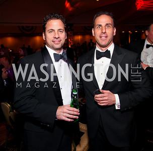 Bruce Attridge and J.T. Taylor. Fight Night 20th Anniversary. Hilton Hotel. November 5, 2009. photos by Tony Powell