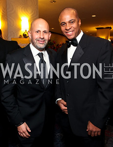 Mauricio Fraga-Rosenfeld and Antony Weaver. Fight Night 20th Anniversary. Hilton Hotel. November 5, 2009. photos by Tony Powell