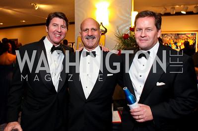 Bruce Bradley, Dave Dorros, Paul Dougherty. Fight Night 20th Anniversary. Hilton Hotel. November 5, 2009. photos by Tony Powell
