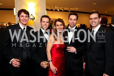 Joe Petty, Rob Mandle, Angela Fox, Charles Gray, Bonanno. Fight Night 20th Anniversary. Hilton Hotel. November 5, 2009. photos by Tony Powell