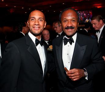 Mayor Adrian Fenty and Frank Raines. Fight Night 20th Anniversary. Hilton Hotel. November 5, 2009. photos by Tony Powell