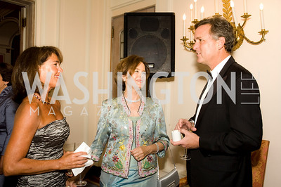 Margaret Bush, Marvin Bush, Debbie Stapleton. French-American Cultural Foundation and Friends of Hermione-LaFayette in America. Residence of the Ambassador of France. September 30, 2009. Photos by Betsy Spruill Clarke.