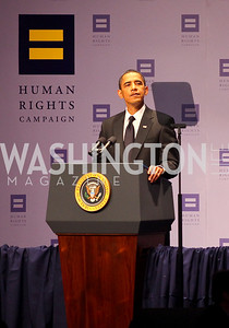 Barack Obama.13th Annual Human Rights Campaign National Dinner. DC Convention Center. October 10, 2009. photos by Tony Powell