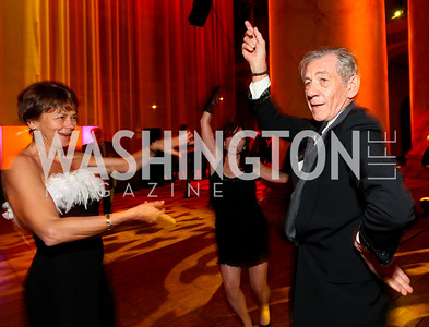 Lady Sheinwald and Sir Ian McKellen. Harman Center for the Arts Annual Gala. October 25, 2009. photos by Tony Powell