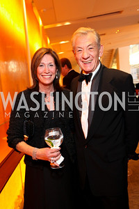 Deborah Epstein and Sir Ian McKellen. Harman Center for the Arts Annual Gala. October 25, 2009. photos by Tony Powell