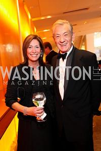 Deborah Epstein and Sir Ian McKellen. Harman Center for the Arts Annual Gala. October 25, 2009. photos by Tony Powell