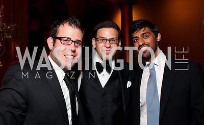 James Kirchick, Alex Levy, Tarak Shah. Harman Center for the Arts Annual Gala. October 25, 2009. photos by Tony Powell