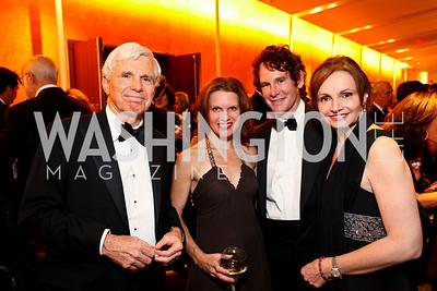 Ray Benton, Ashley Allen, Doug and Gabriella Smith. Harman Center for the Arts Annual Gala. October 25, 2009. photos by Tony Powell