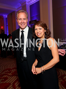 "Tom Liljenquist and Diana Villarreal. Joan Hisaoka ""Make a Difference"" Gala. Mandarin Oriental Hotel. October 24, 2009. photos by Tony Powell"